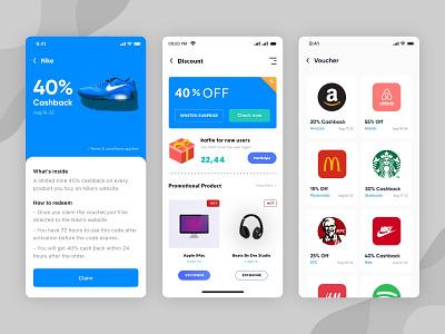 Discount Code Promo App promotion ui  ux design flat design trending uiux voucher design discount code mobile ui discount code promo transfers scanner uidesign home startup ui