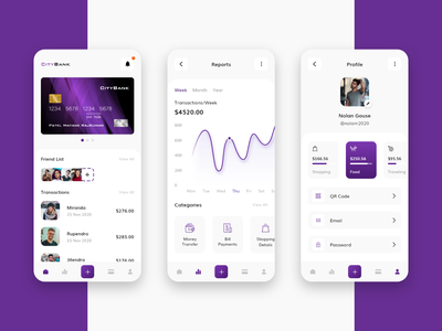 Banking App bank bank app app design design flat design trending uiux app application bankingapp debit card bank card cards profile financial finances banking app banking