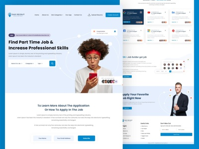 Job Searching Website trending uiux job seeker creative web design website design agency website agency landingpage webdesign website websites marketplace job search job search job listing job portal
