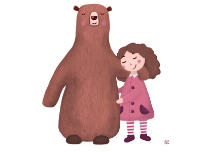 Bear And Girl art design book illustration illustration childbook