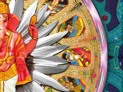Ganesha fragement - Pattern/Mirror