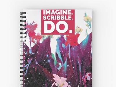 Stardust Petals Spiral Notebook