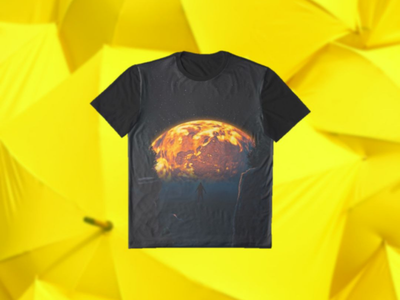 Play! astronomy fantasy sci-fi learning practice digital art t shirt product design clothing