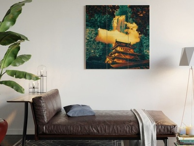 Home Temple Dreamscape Wood Wall Art planets nebula nebulae galaxies star cluster stars space inspiration fiction astronomy vaporwave sci-fi mood magic fantasy mystery overlays textures patterns experiment