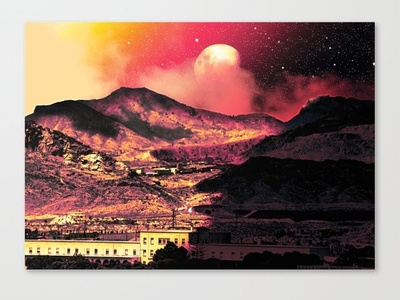 Coves Dreamscape Canvas landscape planets nebula nebulae galaxies star cluster stars space inspiration fiction astronomy vaporwave sci-fi mood magic fantasy overlays textures patterns experiment