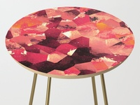 Coves Pattern Dreamscape Side Table
