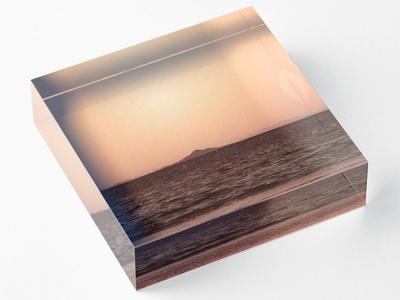 Centre Mountain Landscape Photography Acrylic Block