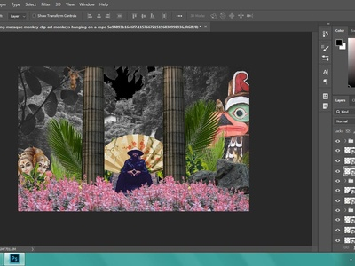 work in progress.. adding animals to the jungle