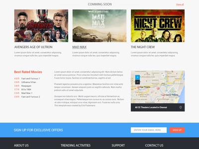 Movie booking website