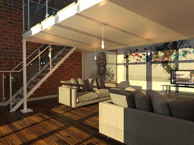 3ds max mezzanine floor proposal