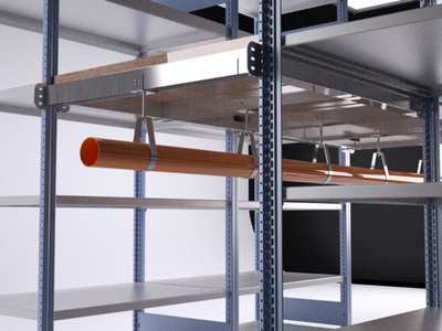 2 tier shelving proposal modelled in Inventor & 3DS Max