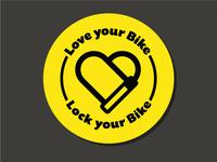 Bike Lock Sticker