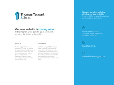 Thomas Taggart holding page