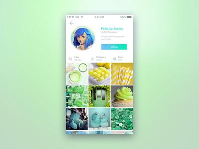 Social Media App - Daily UI Challenge 6