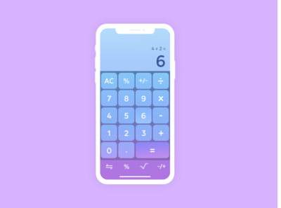 Calculator - Daily UI - Day 4