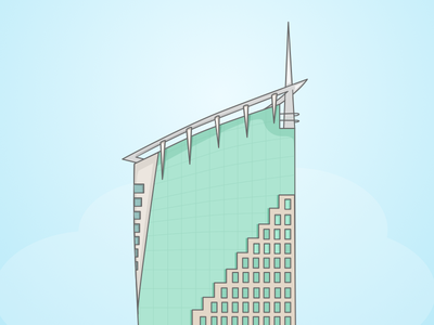 Cyber hub Building (More illustration coming soon) icon cyberhub gurgaon building illustration