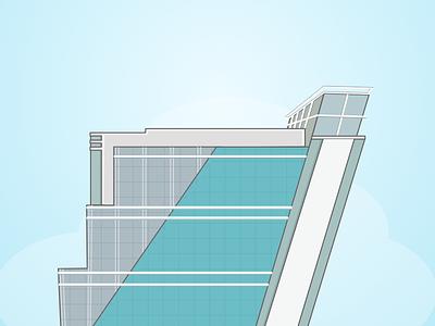 Cyber hub Building 9A dlf icon cyberhub gurgaon building illustration