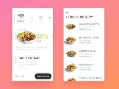 food order exploration