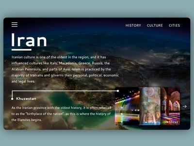 Iran landing page
