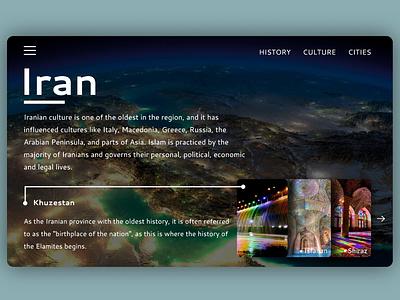 Iran landing page typography web design landing page uidesign iran