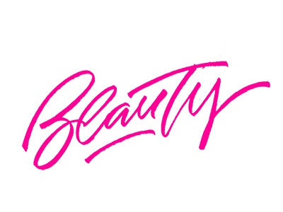 tag Beauty type hand print logotype logo font art design lettering