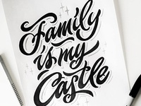 "Easy sketch ""Family is my castle"" 🖋👫"