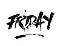 HI! Friday! Brush + crumpled paper