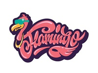 "Hey✌ !pink fever! ☺ my freestyle lettering ""Flamingo"" 👀"