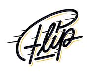 "Hey! My freestyle lettering ""Flip""🙃"