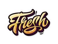 """Yo! ✌ Freestyle lettering """"Fresh"""" ! 👀"""