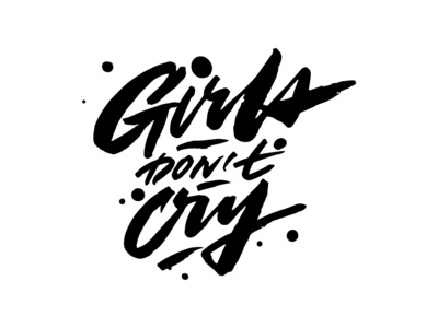 """My brush tag """"Girls don't cry"""""""