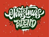 "my lettering ""Christmas Blend"""