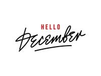 "my lettering ""December"""