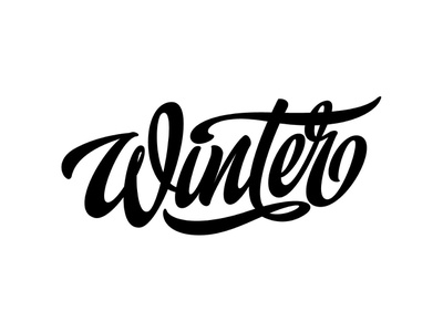 "my lettering ""Winter"" type sketch branding calligraphy handlettering typography vector illustration design logotype hand print logo lettering"