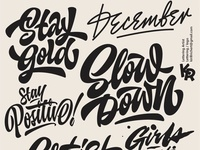 My lettering mix  2018