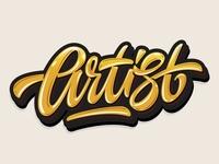 "My lettering ""Artist"""