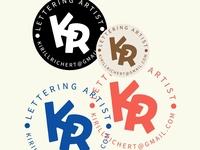 "Hey! My monogram ""KR"""