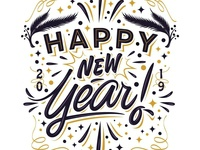 """Hey! My lettering """"Happy new year!"""""""
