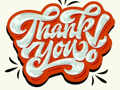 """Hey! My lettering """"Thank You!"""""""