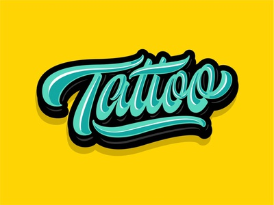 Tattoo vector sign calligraphy handlettering logotype design art type hand lettering