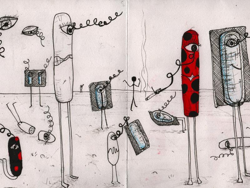 Drawing Fanzine 2 pills fanzine metamorphosis illustration capsules