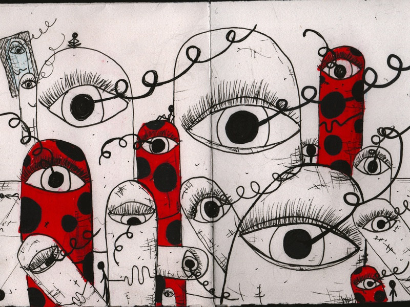 Drawing _ Fanzine 3 pills metamorphosis fanzine illustration capsules