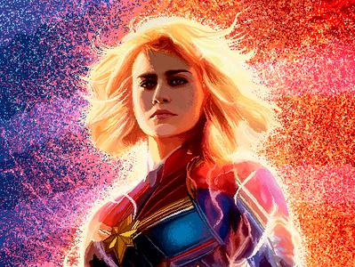 Captain Marvel in pixel girlpower digital 2d adobe photoshop pixelart 8bits avengers pixel fanart captain marvel marvel