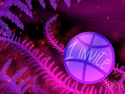 Invite! cyberpunk neon magic decorative illustration adobe photoshop invite design invite friends invation dribbble invite giveaway dribbble invitation dribbble invite dribbble