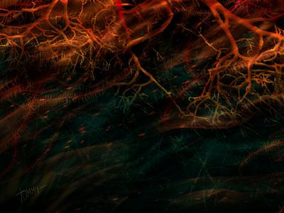 Under water digitalartist abstractart ocean wallpaper dark art illustration digital 2d design art art design environment design environment decorative