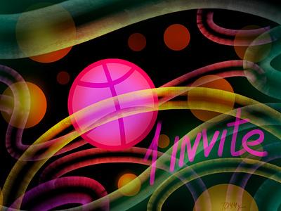Invite neon invite illustration textures art design digital 2d magic dribbble invitation dribbble invite dribble decorative adobe photoshop
