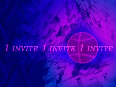 1 invite abstact cyberpunk art invite design illustration dribbble invite decoration dribbble giveaway dribbbleinvite invitation invite