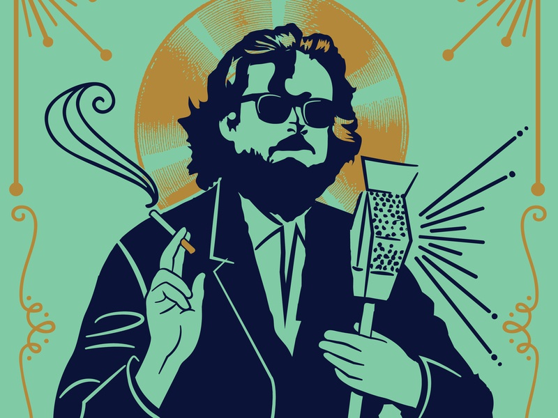 Father John Misty Illustration unofficial music illustration poster father john misty gig poster record