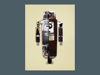 Deconstructed Robot - Art Print