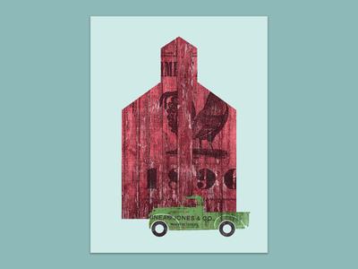 Almanac Barn - Art Print
